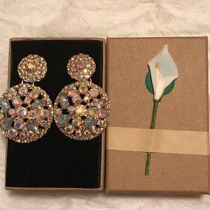 Beautiful rhinestone earrings